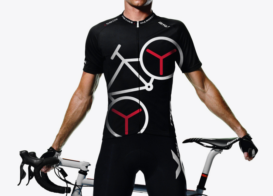 Cycling shirt for The Chain Reaction Project designed by Bravo Company