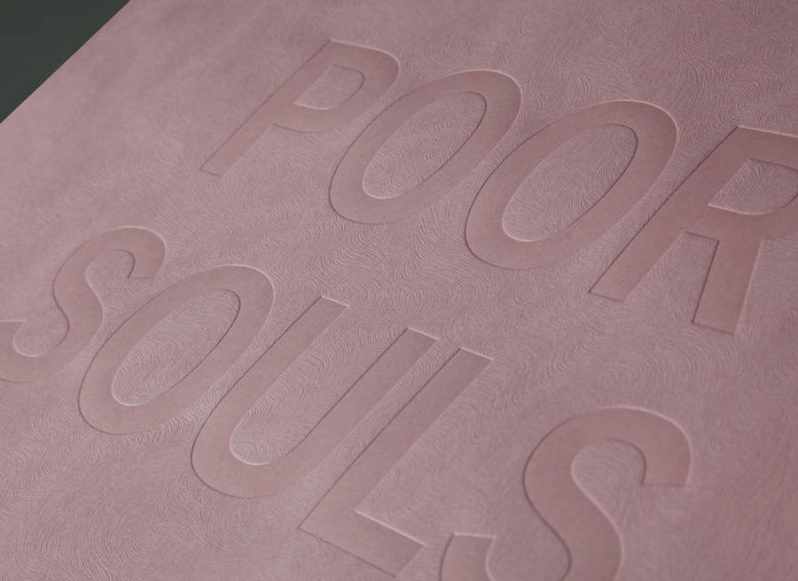 Poster with pink Colorplan paper and blind deboss detail designed by Graphical House for The Empire Café