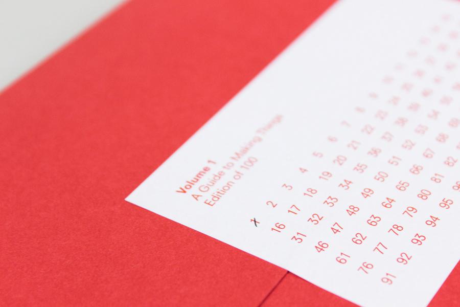 Folder with sticker detail created by digital design and branding agency Fieldwork