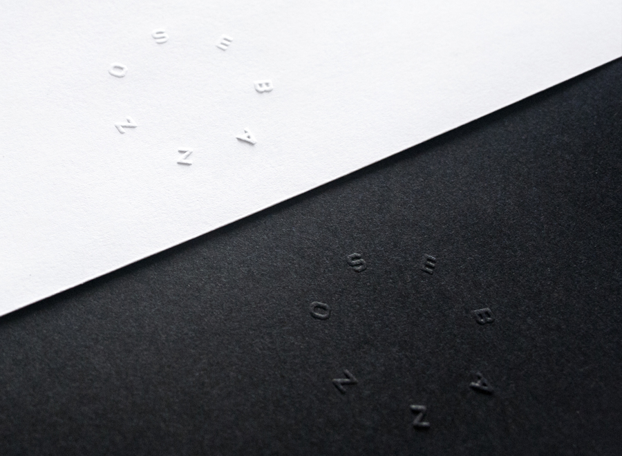 Dry emboss detail designed by Bunch for digital design studio Sebazzo