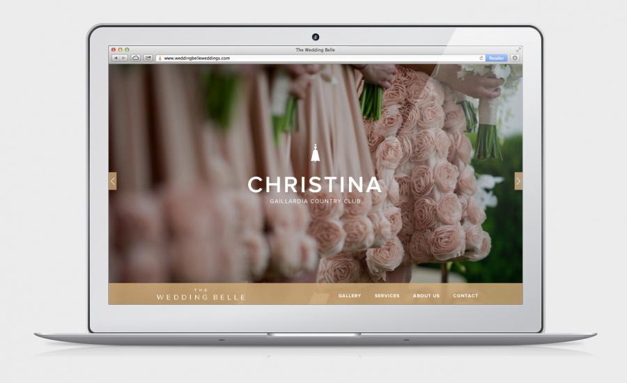 Website designed by Ghost for wedding planner The Wedding Belle