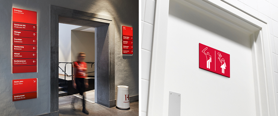 Interior signage for the Swedish History Museum designed by Bold