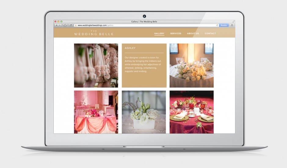 Website designed by Ghost for wedding planner The Wedding Belle