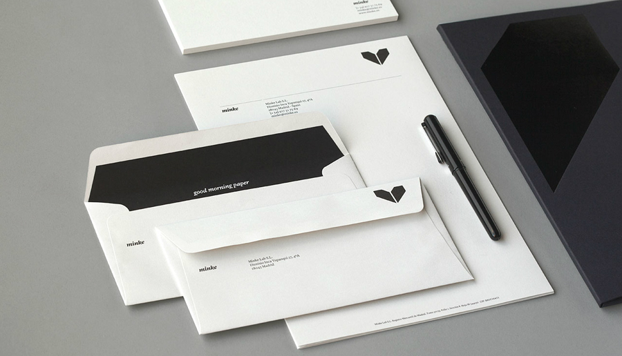 Stationery design by Atipo for Spanish production studio Minke