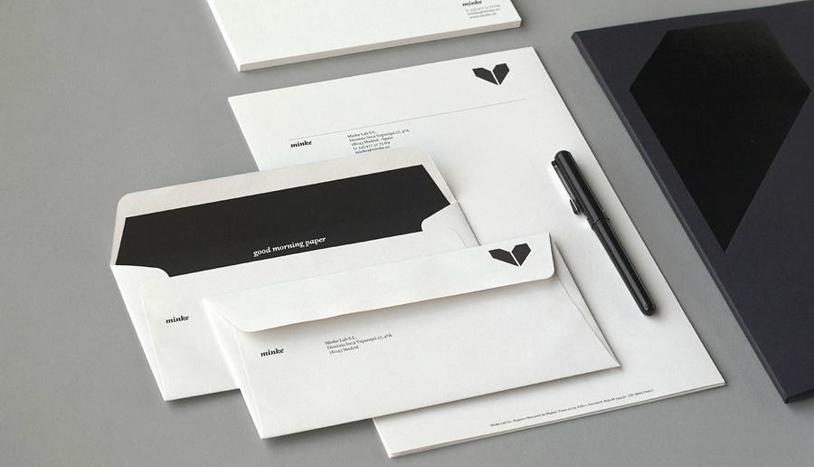 Stationery design by Atipo for Spanish production studio Minke