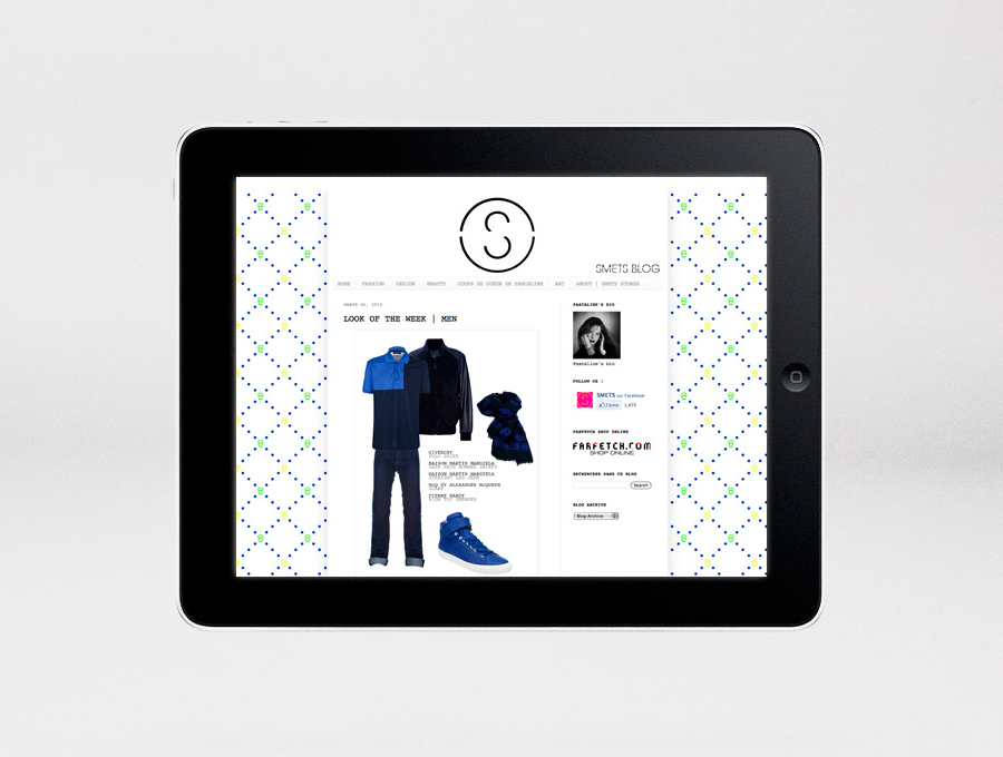 Logo and mobile website designed by Coast for Brussels based luxury department store Smets