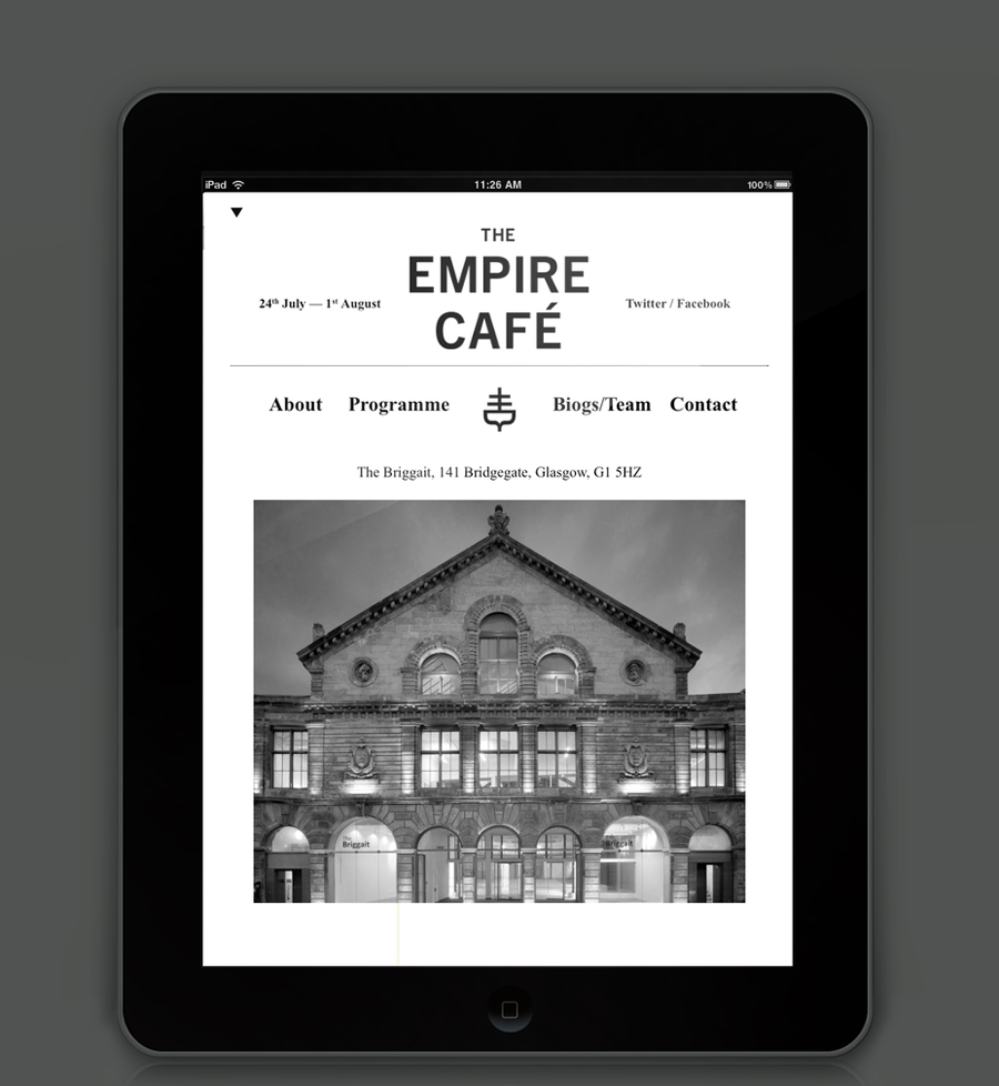 Logotype and website designed by Graphical House for The Empire Café