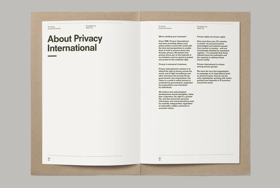 Print for Privacy International designed by This Is Real Art