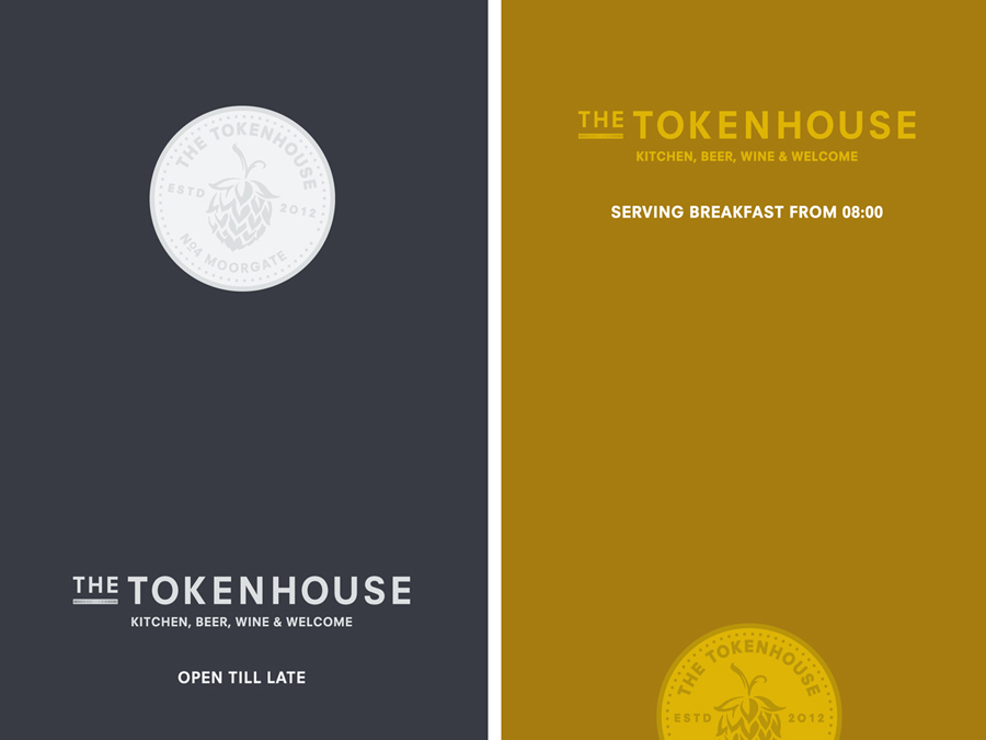 Print advert created by Designers Anonymous for The Tokenhouse