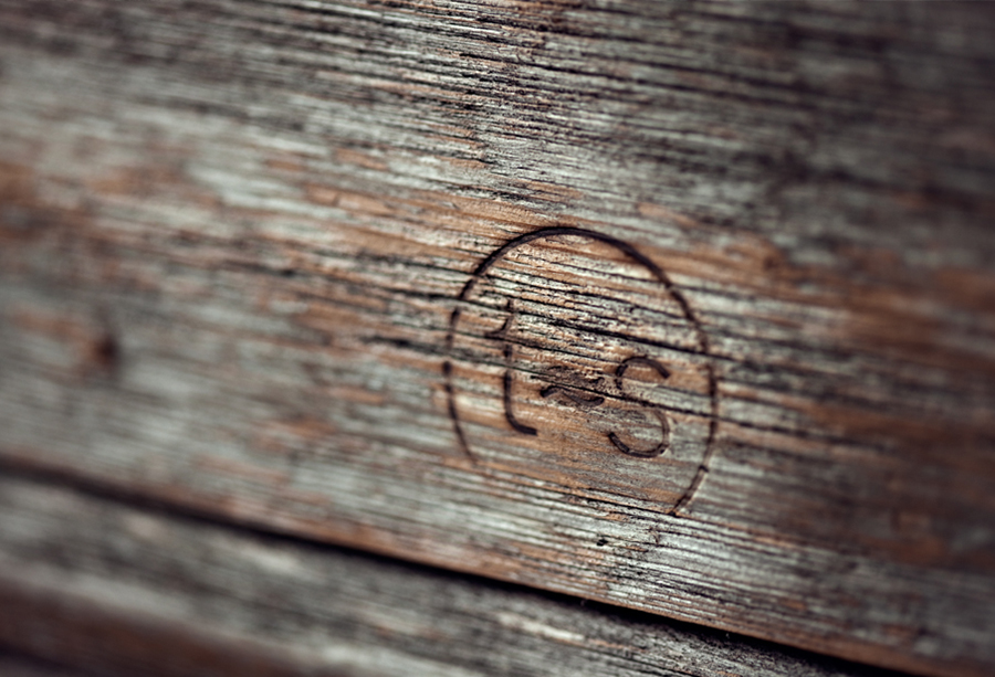 Logo as a heat treated detail created by Work In Progress for Norwegian seafood restaurant Tjuvholmen Sjømagasin