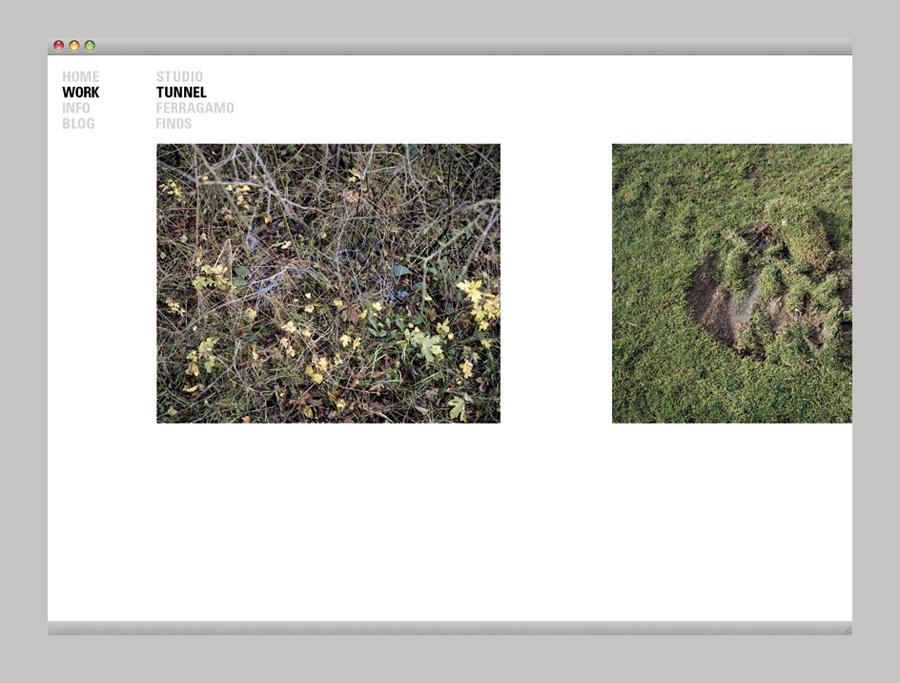 Website designed by Birch for British photographer Harry Watts