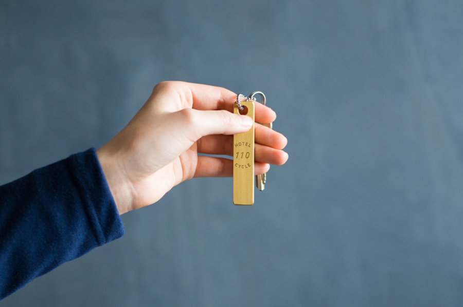 Key chain designed by UMA for U2's Onomichi based Hotel Cycle