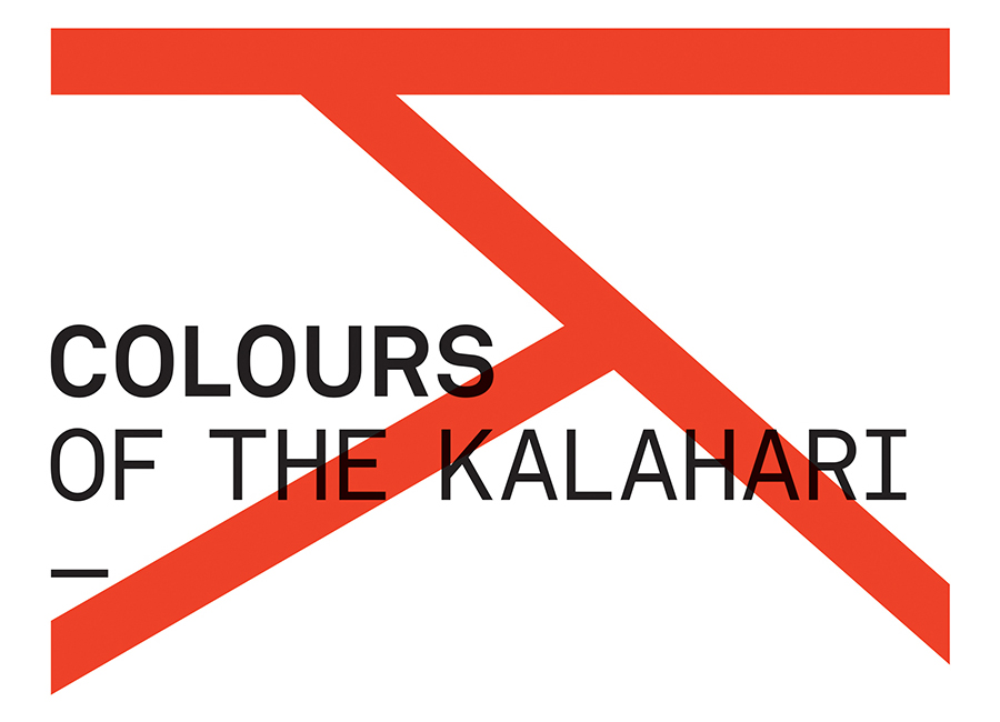 Logotype for San art exhibition Colours Of The Kalahari designed by Believe In