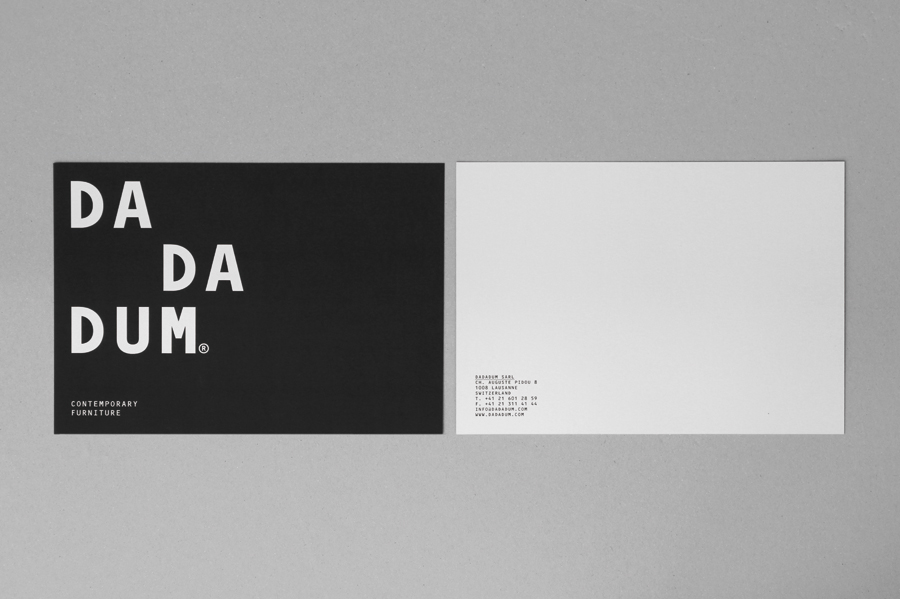 Logotype and print created by Demian Conrad Design for Swiss contemporary furniture design and manufacturer Dadadum