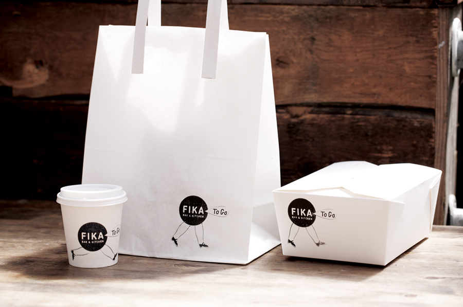 Packaging created by Designers Anonymous for London kitchen and bar Fika