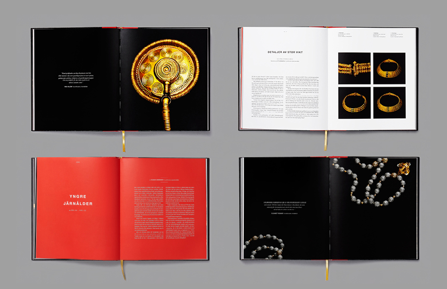 Book for the Swedish History Museum designed by Bold with photography by Pelle Bergström