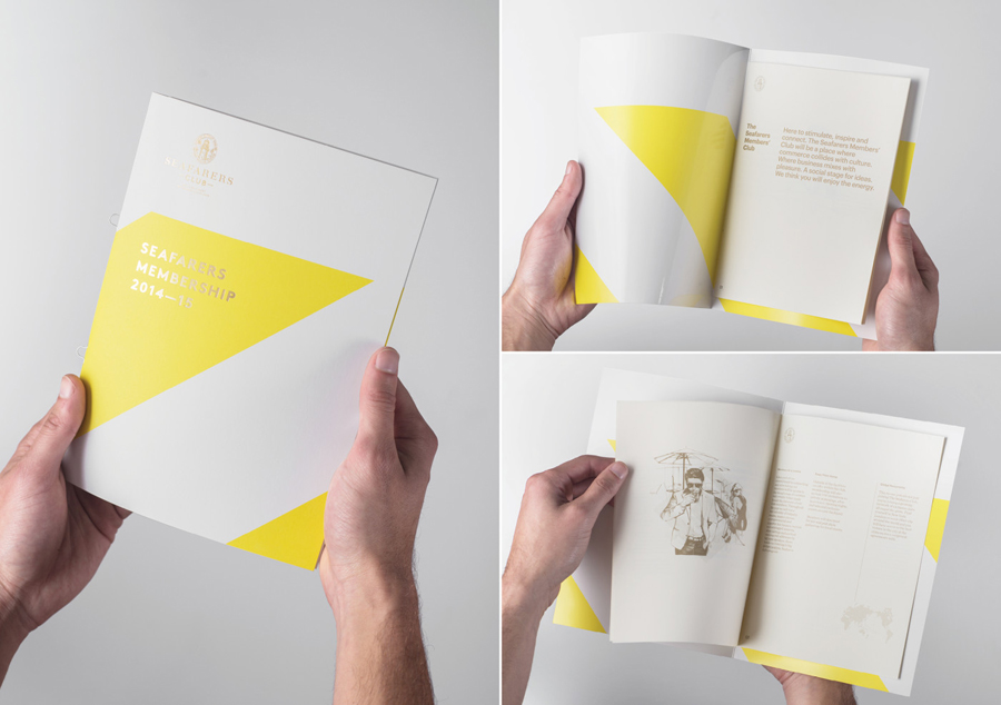 Print with gold foil print finish created by Inhouse for Auckland's The Seafaring Building