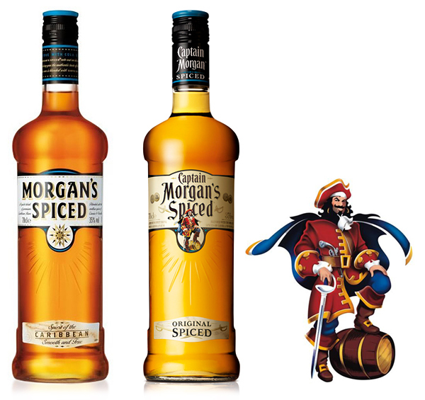 Packaging for Captain Morgan's Spiced.