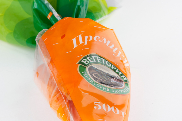 Packaging by Just be Nice for Vegetoria's carrot variety