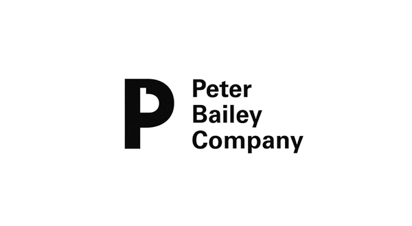 Logo for photographer and digital artist management agency Peter Bailey Company designed by Bunch