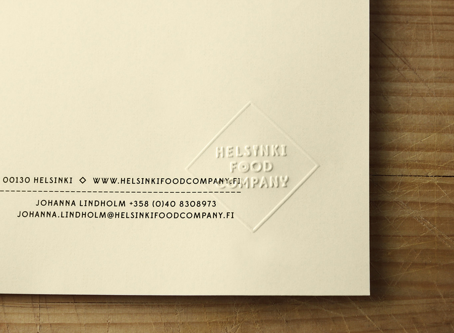 Logo and mobile website for Helsinki Food Company designed by Werklig