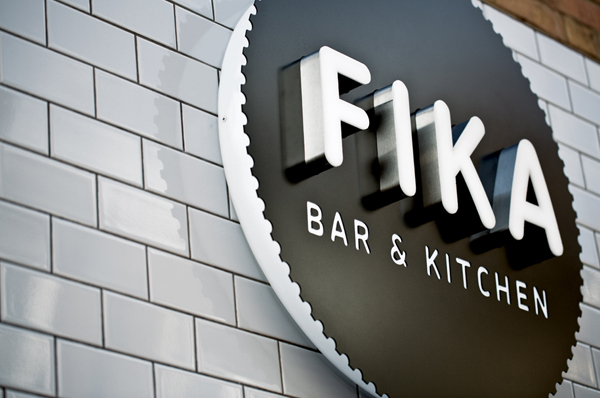 Fika - Logo, illustration and signage by Designers Anonymous