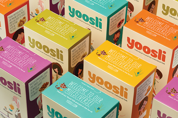 Yoosli - Logo and packaging created by Together Design