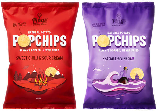 Popchips - Logo and packaging created by Marx Design