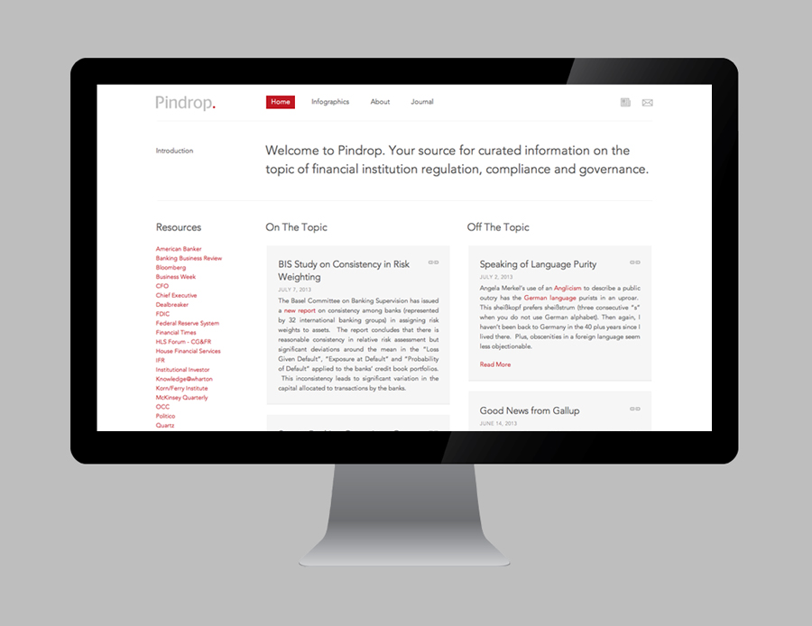Logo and responsive website designed by Nudge for bank and financial institution regulation resource Pindrop