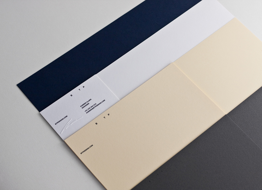 Logo, letterhead and business card with embossed detail designed by BTP