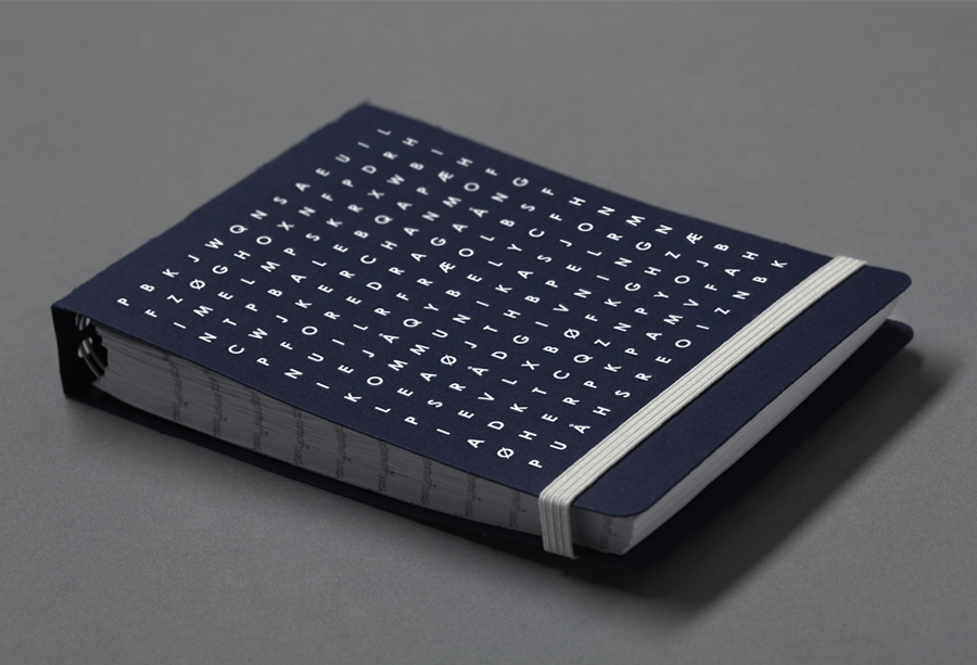 Note pad designed by Work In Progress for Oslo-based communication specialist Bedre Kommunikasjon