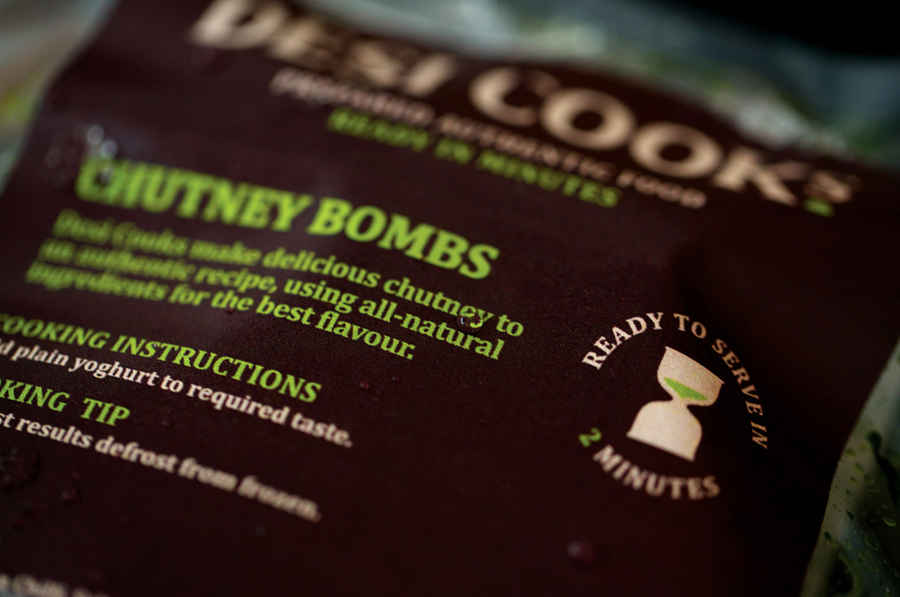 Packaging by Designers Anonymous for Asian food start-up Desi Cooks