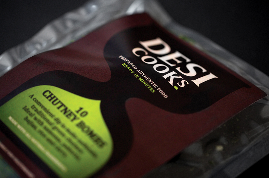 Desi Cooks packaging by Designers Anonymous