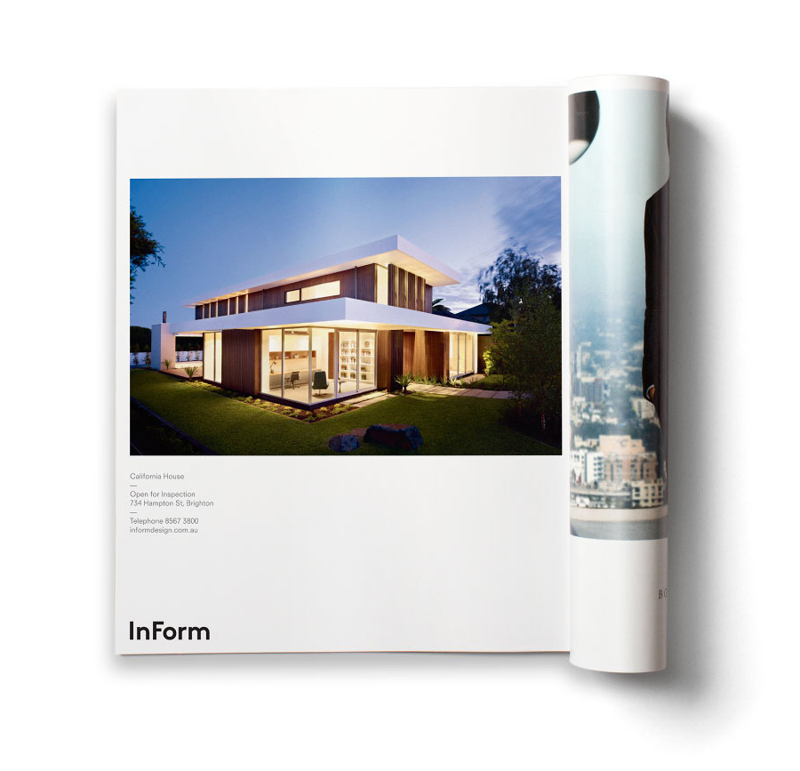 Logo and print for architectural design and building firm InForm by Hofstede