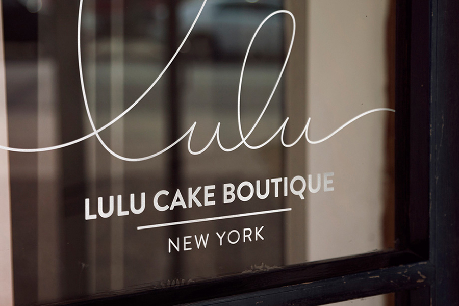 Logo and stationery design for Lulu Cake Boutique designed by Peck and Co.