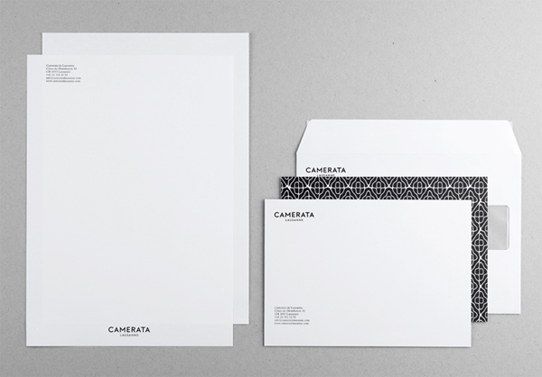 Camerata Lausanne - Logo and stationery design by Demian Conrad