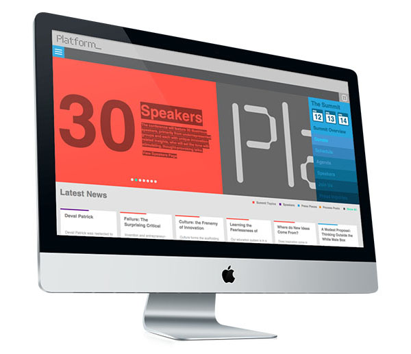 Logo and website designed by Pentagram for not-for-profit, technology and entrepreneurship organisation Platform