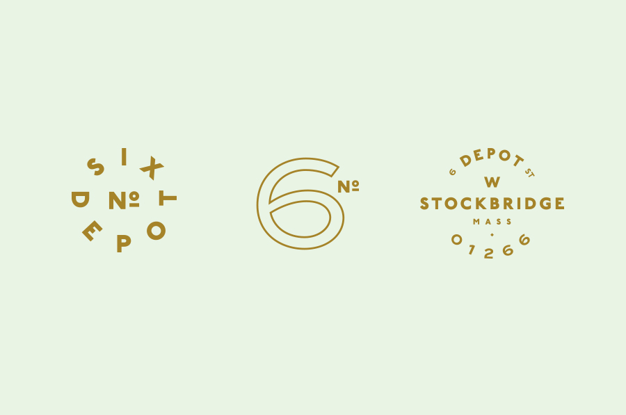 Logotypes designed by Perky Bros for small-batch coffee roaster and café No. Six Depot