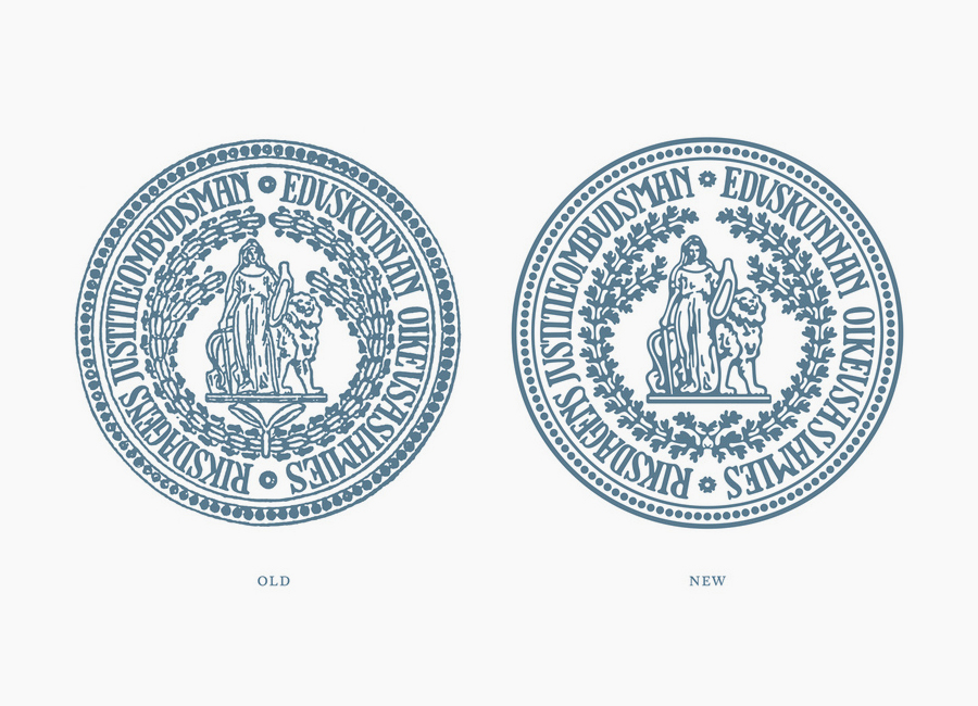 Revised seal by Werklig for The Parliamentary Ombudsman of Finland