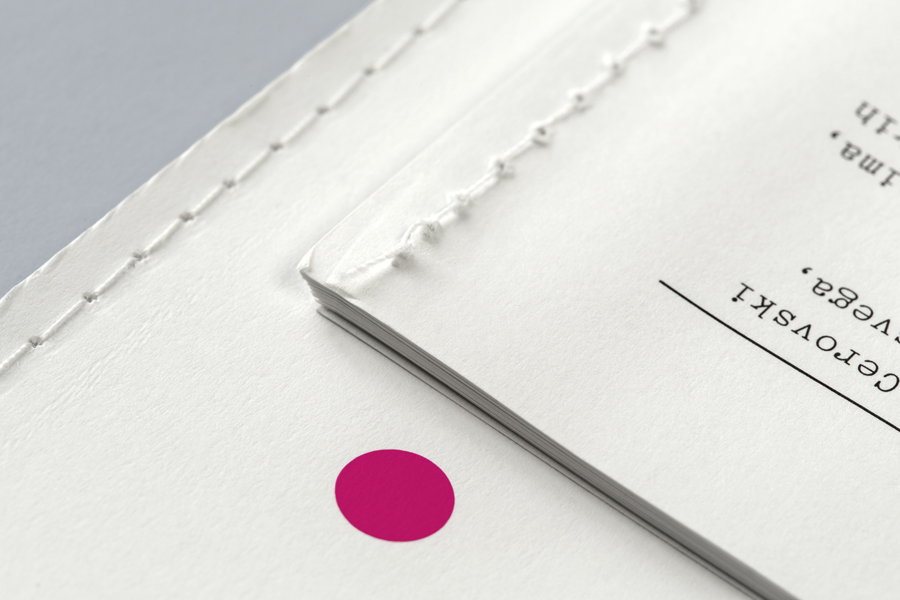 Print with stitched detail for print production studio Cerovski designed by Bunch