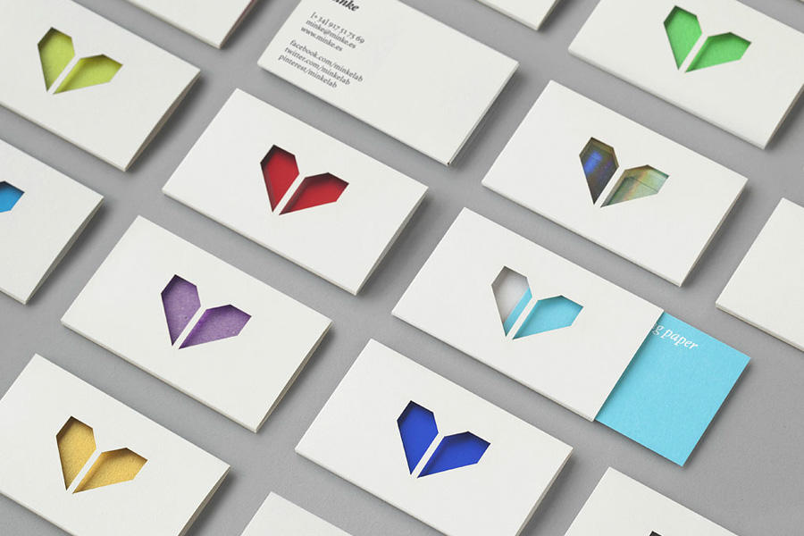 Logo and business card design by Atipo for Spanish production studio Minke