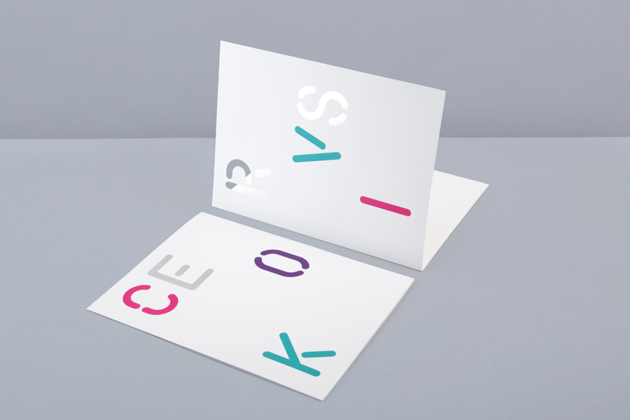 Print with die cut detail for print production studio Cerovski designed by Bunch