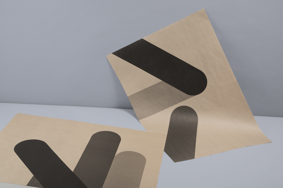 Print with black ink detail across an unbleached paper for print production studio Cerovski designed by Bunch