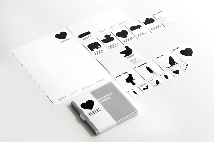 Logo and iconographic stationery created by Designers Anonymous