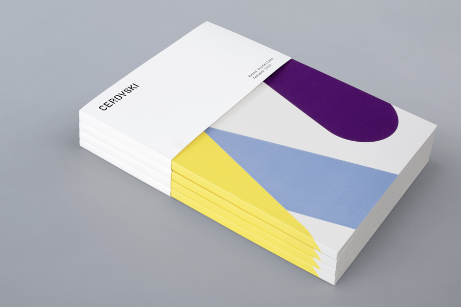 Brochure for print production studio Cerovski designed by Bunch