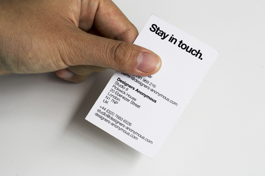 Logo and business card created by Designers Anonymous