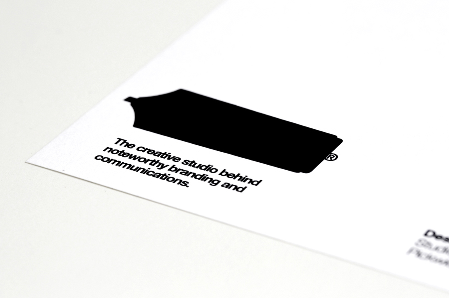 Logo and stationery detail created by Designers Anonymous