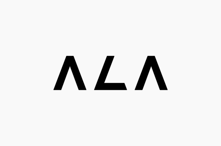 Logotype designed by Kokoro & Moi for Helsinki based architecture firm ALA