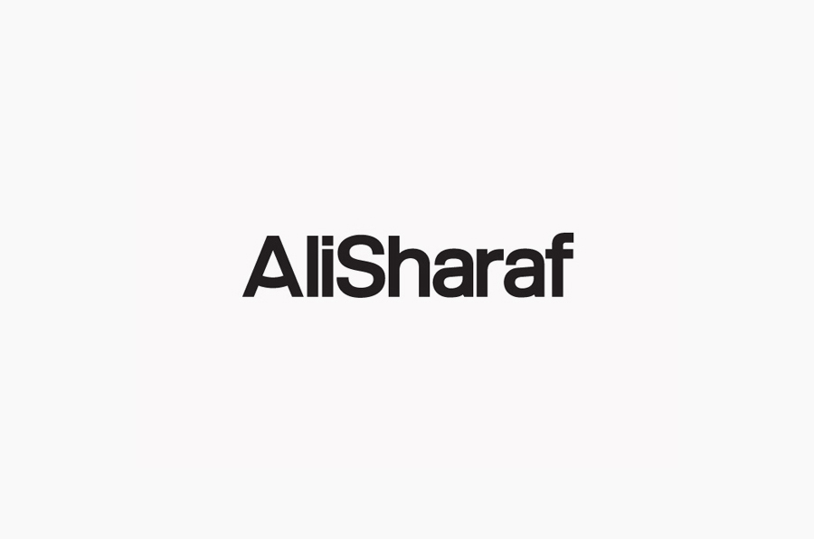 Logotype created by Mash Creative for Bahrain-based commercial photographer Ali Sharaf