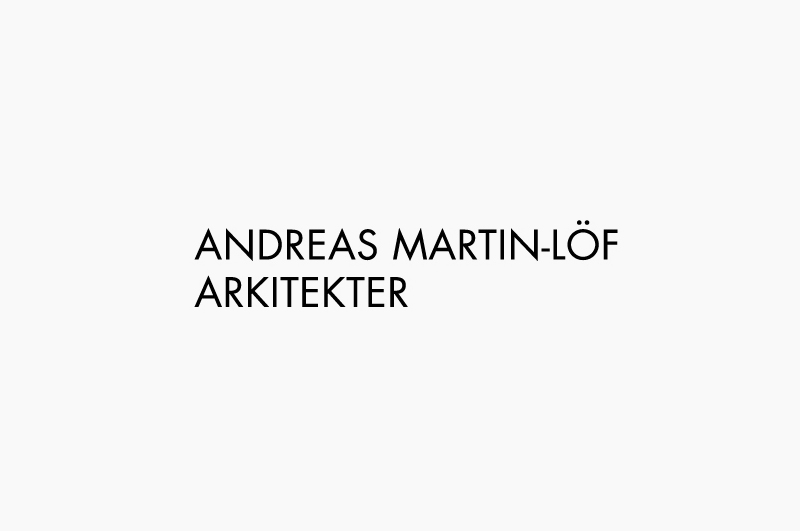 Logo designed by Wink for architectural, product and furniture design firm Andreas Martin-Löf